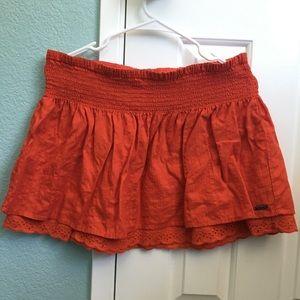 ROXY double layered mini-skirt w/ elastic waist